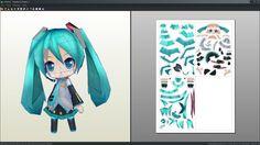 Chibi Hatsune Miku papercraft template by AntyyyPapercrafts
