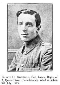 Burnley Roll of Honour Private Henry Bramall