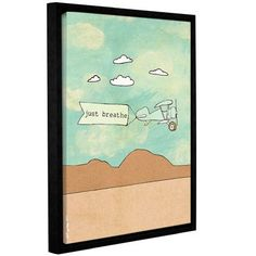 """Mercury Row Breathe 2.0 Framed Graphic Art on Gallery Wrapped Canvas Size: 32"""" H x 24"""" W x 2"""" D"""