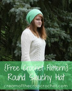 Round Slouchy Hat Free Crochet Pattern