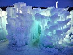 Ice Castles in Silverthorne, CO.