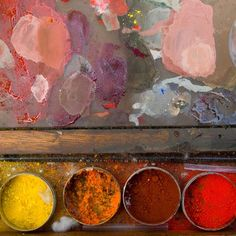 Palette raw pigments