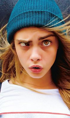 Cara Delevingne Making Scary Faces