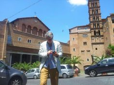 I in SS.John and Paul Square in Rome