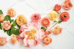 Spring Peony Styled Stock Photo   by Wander and Rose on @creativemarket