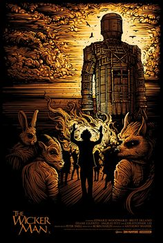 The Wicker Man by Dan Mumford  Submitted by ron-swansons-hidden-gold