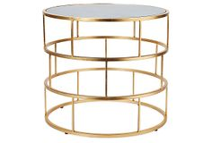 One Kings Lane - Must-Have Picks - Ladder Side Table, Gold