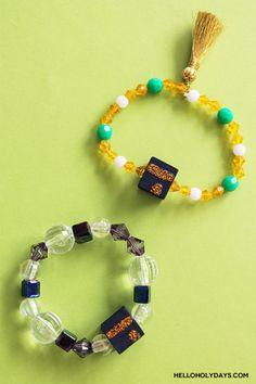 DIY Eid al Adha Jewelry by Hello Holy Days! Diy Eid Gifts, Eid Party, Eid Al Adha, Black Acrylic Paint, Embroidery Scissors, Kindergarten Crafts, Food Crafts, Kwanzaa, Gel Pens