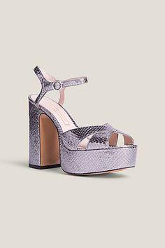 Marc Jacobs Lust Platform Sandal In Dark Silver Marc Jacobs Shoes, Crazy Shoes, Your Shoes, Shoe Game, Chunky Heels, Lust, Ankle Strap, Peep Toe, Platform