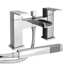 Taps Tilt Plaza Waterfall Bath Shower Mixer With Kit Attachment Bathroom Mirror Cabinet
