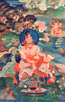 Buddha Naropa (1016–1100) an Indian scholar saint, with his teachings of the six yoga's of naropa are one of the main pillars of Vajrayana Buddhist tradition. Born as a Bengali prince named Samantabhadra, Naropa (1016-1100) rebelled at a young age against his royal training.