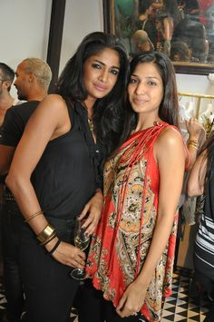 Models Carol Gracias and Mashoom Singha at the T&G launch. #Style #Page3 #Fashion #Beauty