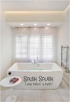 splish splash i was takinu0027 a bath vinyl decal bathroom decor bathroom wall decal bathroom wall art bathroom vinyl splish splash 21x68