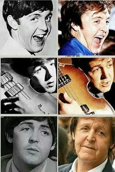 Paul McCartney across the ages // happy birthday, sir paul! Foto Beatles, Beatles Band, Beatles Love, Les Beatles, Beatles Poster, Beatles Guitar, Beatles Photos, Paul Is Dead, Paul Mccartney
