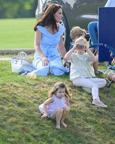 - Photo - Kate Middleton and her two oldest children, Prince George and Princess Charlotte attended the Maserati Royal Charity Polo Trophy at Beaufort Park to watch Prince William play