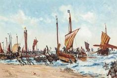 Charles Edward Dixon - The Landing Of William The Conqueror At Hastings