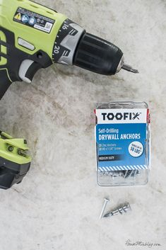 Self-drilling drywall anchors and screws - these are life-changing!!