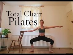 Feel the burn and tone up the whole body with this chair workout :) Dancer Leg Workouts, Ballet Barre Workout, Barre Workouts, Pilates Workout, Pilates Chair, Pilates Barre, Pilates Reformer, Pilates Routines, Exercise Physiology