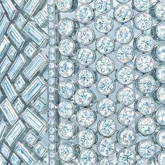Tiffany & Co. wide diamond bracelet. #TiffanyPinterest