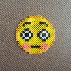 Emoticon - Emoji hama beads by meirhama Perler Beads, Perler Bead Emoji, Perler Bead Art, Fuse Beads, Pixel Art, Hello Kitty Crochet, Art Perle, Brick Stitch Earrings, Pearler Bead Patterns