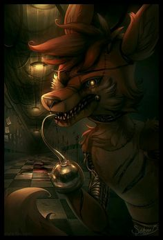 Foxy, blood; Five Nights at Freddy's
