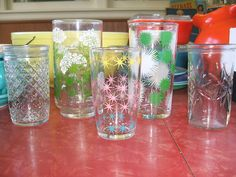 Drinking glasses and jelly jars