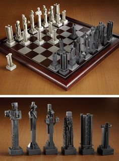 Frank Lloyd Wright's Midway Gardens - Chess Set