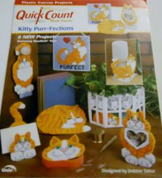 Kitty Purr-Fections Plastic Canvas Pattern Leaflet