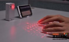 """Wireless Laser Projection Keyboard """"Keybeam"""" - Bluetooth, Built-in Battery, Works with Android, Windows, Mac and iOS #laserkeyboard #keyboard #iOS"""
