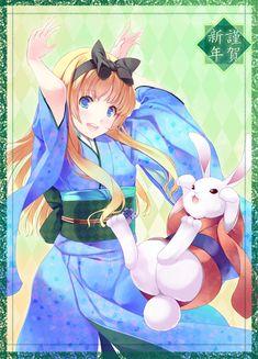 Anime style Alice (Alice in Wonderland) Ghibli, Alice In Wonderland Fanart, Alice Rabbit, Manga, Alice Madness, Anime Version, Anime Japan, Adventures In Wonderland, Anime Style