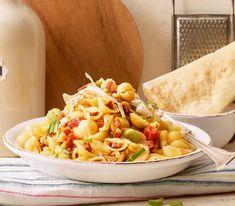 Ein Klassisches Pasta-Rezept mit etwas Feuer auf den Teller dank der scharfen spanischen Chorizo.