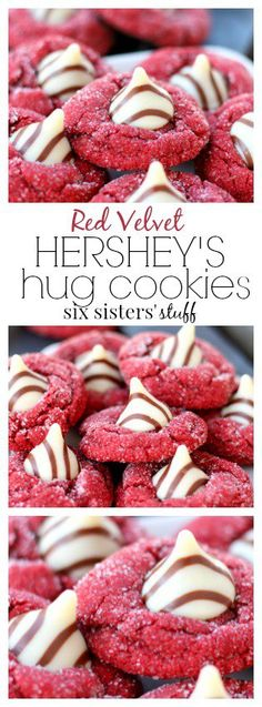 Red Velvet Kiss Cookies from Six Sisters' Stuff