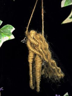 Pagan Handfasting Gift. God & Goddess Lovers Amulet. Hand Crafted Jute Figures.