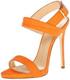 Giuseppe Zanotti Italian leather dress sandal in sombry orange. Hot Shoes, Crazy Shoes, Me Too Shoes, Shoes Uk, Pretty Shoes, Beautiful Shoes, Dress Sandals, Shoes Sandals, Strap Sandals