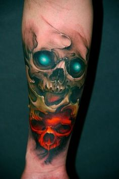 skull tattoos by Jeff Gouges