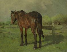 Paard, Anton Mauve, 1860 - 1888  ✿⊱ X ღɱɧღ