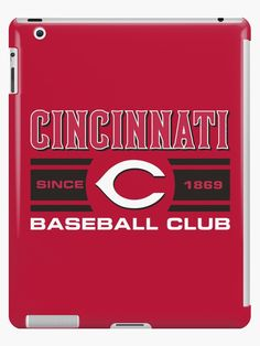 'Cincinnati Reds Baseball Club Starter Series' iPad Case/Skin by James Jenskins Cincinnati Reds Baseball, Baseball League, Ipad Case, Phone Cases, Club, Stickers, Artwork, Work Of Art, Auguste Rodin Artwork
