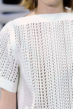 White top. Lazercut.  Alexander Wang.