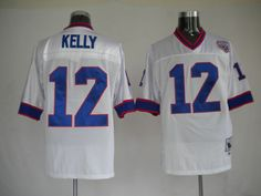 Kelly White Jersey $19.99 This jersey belongs to Kelly, Buffalo Bills #12  Color: white, Size: M, L, XL, XXL, XXXL  The jersey is made of heavy fabric with nylon diamond weave mesh