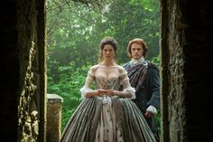 """Catch up on Outlander: """"The Wedding"""" — Sept. 20, 2014 - One minute you're in 1945 with your husband Frank Randall and then you're in 1743 to unresolved sexual tension all over the place with Jamie Fraser. That's what happens when you g…"""