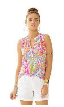 Resort White Scuba To Cuba White Essie sleeveless top
