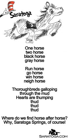 Celebrating Dr. Seuss week Saratoga style with this fun parody of a popular Seuss rhyme.