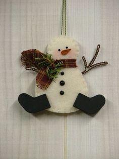 O Christmas Tree: Felt Snowman Ornament