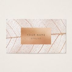 Shop Leaf Pink Rose Gold Peach Glass Gold Glam Business Card created by luxury_luxury. Elegant Business Cards, Cool Business Cards, Gold Business Card, Creative Business, Web Design, Logo Design, Design Cars, Graphic Design, Marca Personal