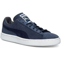 Puma Women's Suede Classic Winterized Lo Casual Sneakers from Finish... ($60) ❤ liked on Polyvore featuring shoes, sneakers, puma footwear, evening shoes, puma trainers, holiday shoes and puma shoes