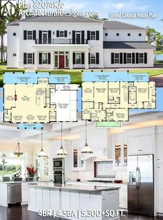 Architectural Designs House Plan 82074KA. 4BR | 4.5BA | 5,300+SQ.FT. Ready when you are. Where do YOU want to build? #82074ka #adhouseplans #architecturaldesigns #houseplan #architecture #newhome #newconstruction #newhouse #homedesign #dreamhome #dreamhouse #homeplan #architecture #architect