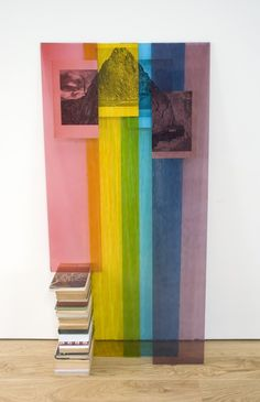 Abigail Reynolds, Magic Mountain  2011  Glass, book pages, books  48 x 23 x 9 in  121.9 x 58.4 x 22.9 cm  Ambach & Rice, Los Angeles