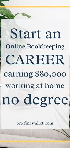 How to make money from home with your own online business idea. Stay at home mom and dad job that pays well. Make money online with an online bookkeeping business Work From Home Jobs, Make Money From Home, How To Make Money, How To Become, Online Bookkeeping, Bookkeeping Business, Business Launch, Online Business, Own Business Ideas