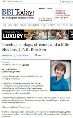 Tweets, hashtags, streams, and a little blue bird - by Patti Rowlson #Twitter #marketing