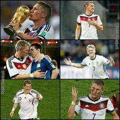 Bastian Schweinsteiger will play his last Germany match today. LEGEND.